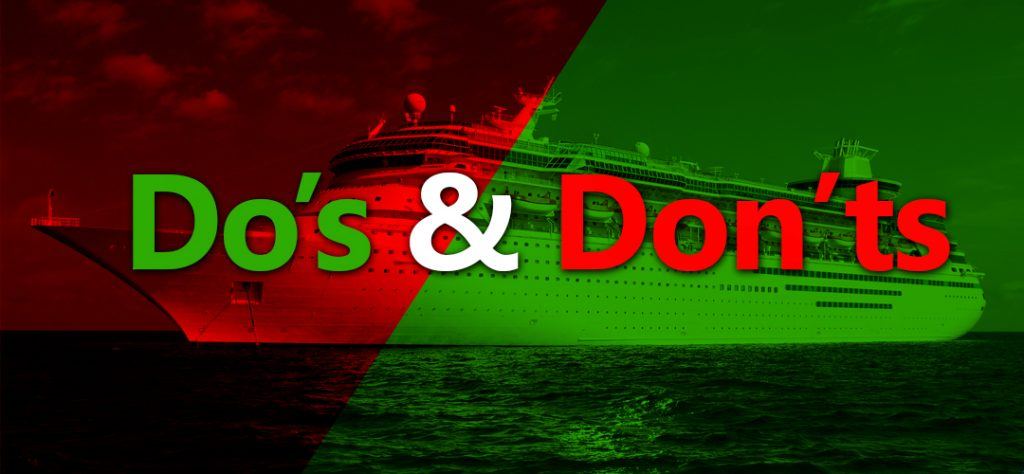 Do's and Don'ts for Cruise Ship Crew